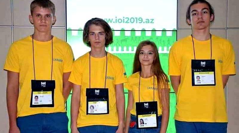 Юні інтелектуали на Міжнародній олімпіаді з інформатики здобули одну золоту, дві срібні та одну бронзову медалі